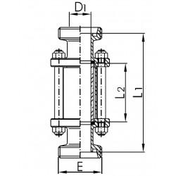 Mirilla Tubular AISI 304 Macho/Macho DIN